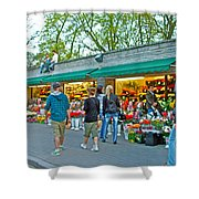 Many Flower Shops In Tallinn-estonia Shower Curtain