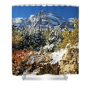 Many Glacier Colors Shower Curtain