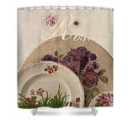 Many Rose Designs Still Life  Shower Curtain