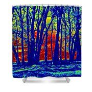 Many Trees II Shower Curtain