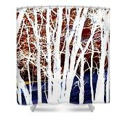 Many Trees Shower Curtain