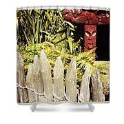 Maori Carving Shower Curtain