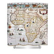 Map Of Africa, 1630 Shower Curtain