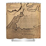 Map Of Alexandria 1798 Shower Curtain