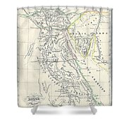 Map Of Ancient Egypt Shower Curtain
