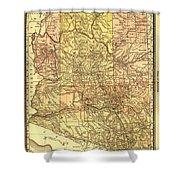 Map Of Arizona 1883 Shower Curtain