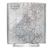 Map Of Belgium And Holland Or The Netherlands Shower Curtain