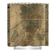 Map Of Boston 1852 Shower Curtain