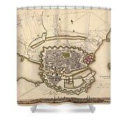 Map Of Copenhagen 1837 Shower Curtain