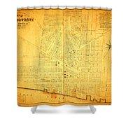 Map Of Detroit Michigan C 1835 Shower Curtain