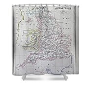 Map Of England Shower Curtain