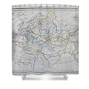 Map Of Europe In The Middle Ages Shower Curtain
