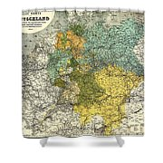 Map Of Germany 1861 Shower Curtain