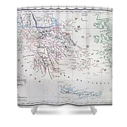 Map Of Greece Shower Curtain