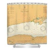 Map Of Lake Ontario 1904 Shower Curtain