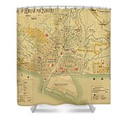 Map Of Manila 1899 Shower Curtain