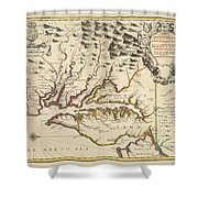 Map Of Maryland 1676 Shower Curtain