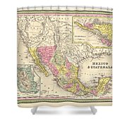 Map Of Mexico Shower Curtain by Gary Grayson