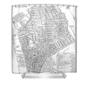 Map Of New York City, 1803 Shower Curtain