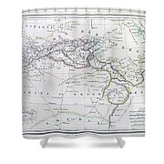 Map Of North Africa Or Barbary Shower Curtain