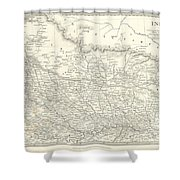 Map Of North India Nepal And Allahabad Shower Curtain