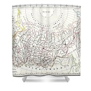 Map Of Russia In Asia And Siberia Shower Curtain