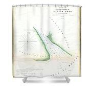 Map Of Sabine Pass  Texas  Louisiana Shower Curtain
