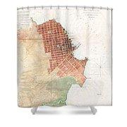 Map Of San Francisco California Shower Curtain