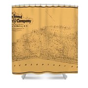 Map Of Sausalito 1868 Shower Curtain