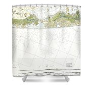 Map Of Suffolk County Southern Long Island New York Shower Curtain
