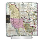 Map Of Texas Oregon And California Shower Curtain