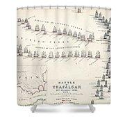 Map Of The Battle Of Trafalgar Shower Curtain