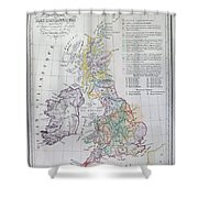 Map Of The British Isles  Shower Curtain