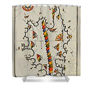 Map Of The Island Corsica Shower Curtain