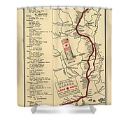 Map Of The Lone Star Route 1922 Shower Curtain
