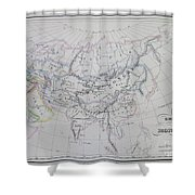 Map Of The Mongol Empire In Asia And Europe Shower Curtain