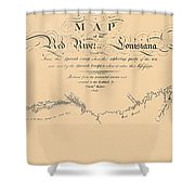 Map Of The Red River 1806 Shower Curtain