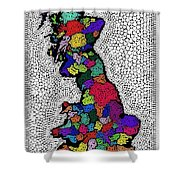 Map Of The Uk Decorative Shower Curtain