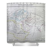 Map Of The World According To The Ancients Shower Curtain