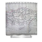 Map Of Turkey Or Asia Minor In Ancient Times Shower Curtain