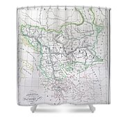 Map Of Turkey Or The Ottoman Empire In Europe Shower Curtain