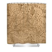 Map Of Virginia 1698 Shower Curtain