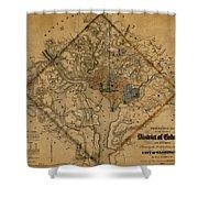 Map Of Washington 1862 Shower Curtain