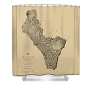Map Of West Point 1883 Shower Curtain