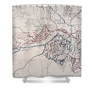 Map: Siege Of Atlanta 1864 Shower Curtain