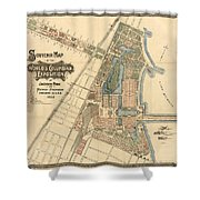 Map: Worlds Fair, 1893 Shower Curtain