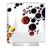 Mapamundi - World Map Shower Curtain
