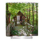 Maple Syrup Barn Shower Curtain