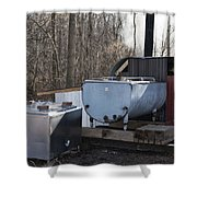 Maple Sap Collected Shower Curtain