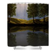 Maples In Moonlight Reflections Shower Curtain